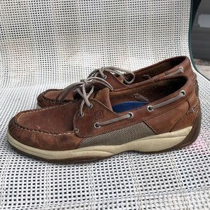Sperry Topsiders men's brown&tan leather shoes